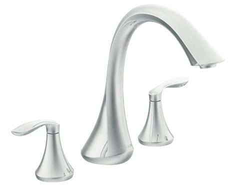 moen  eva  handle high arc roman tub faucet  valve chrome bathtub faucets