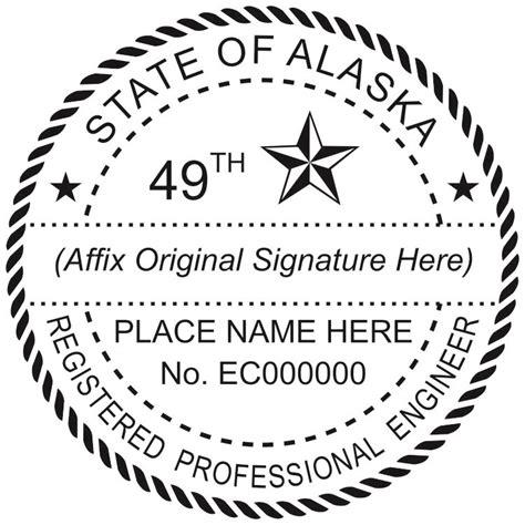 alaska registered professional land surveyor stamp winmark stamp sign stamps  signs