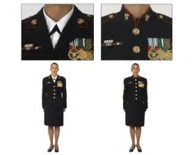 help marine female officer wears black necktab