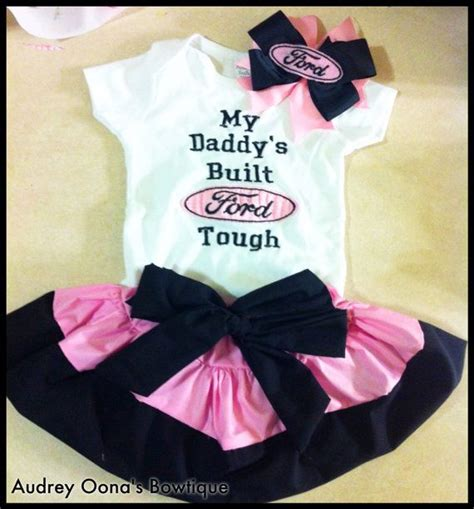 baby mustang clothes my s built ford tough embroidered shirt with skirt