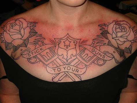 tattoos for womens chest blessing of god chest ideas