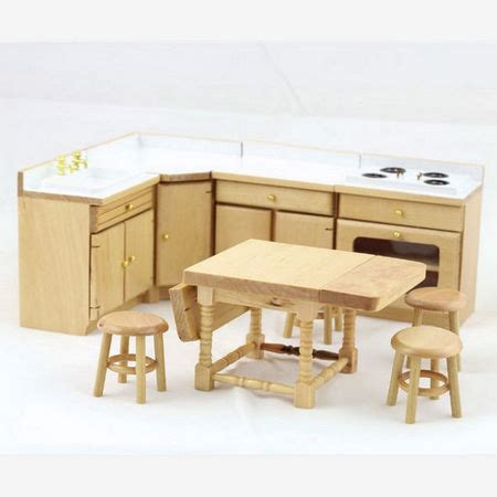 dolls house kitchen furniture pine dolls house kitchen set df820p