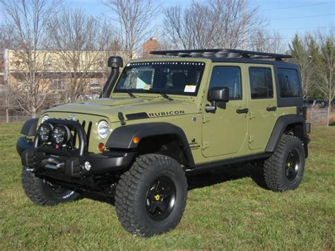 green jeep rubicon commando green aev rubicon my lottery wish list