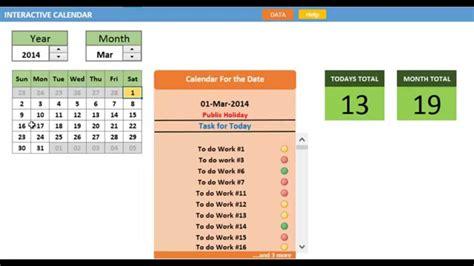 Interactive Calendar Interactive Calendar Demonstration
