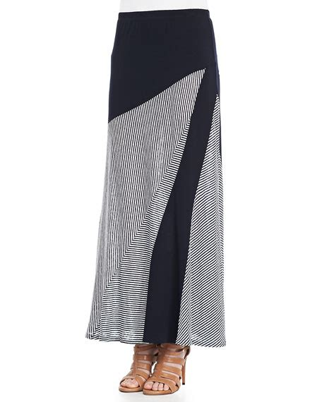isda co striped a line maxi skirt