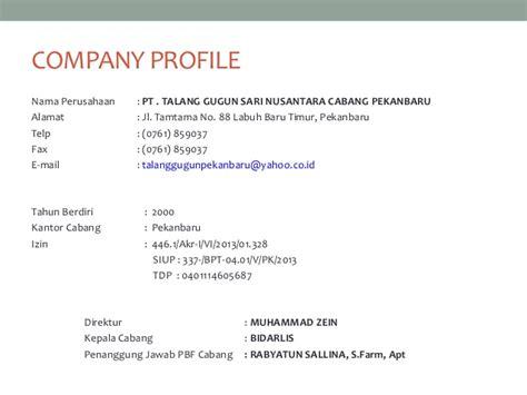 Vcd Company Profile Pt Nusantara company profile tgsn pku