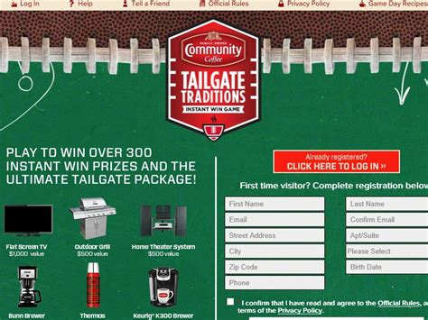 Tailgate Traditions Sweepstakes - community coffee tailgate traditions sweepstakes