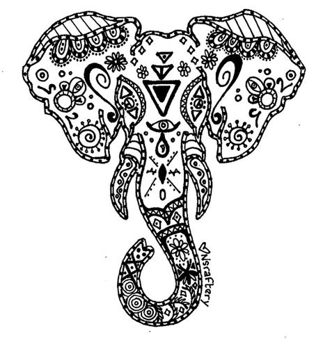 elephant pattern coloring pages coloriage elephant mandala