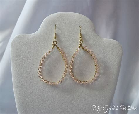 earrings with wire diy wire wrapped teardrop earrings my girlish whims