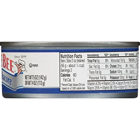 bumble bee solid white albacore tuna in water canned tuna