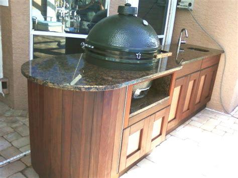 green egg kitchen green egg installed in outdoor kitchen