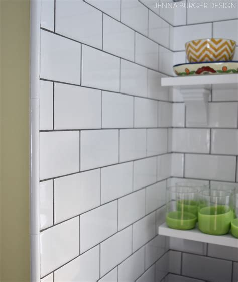 sky blue glass subway tile backsplash in modern white