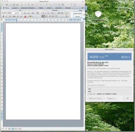 microsoft office 2011 for mac beta 2 14 0 0