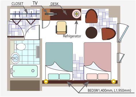 layout of hotel guest room urban hotel tsukuba official site guest room twin