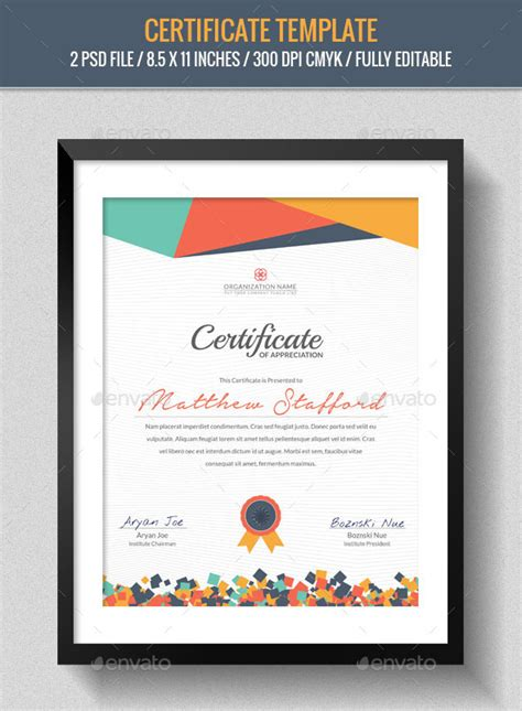 template inspiration 28 best certificate designs free premium templates