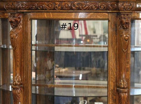curved glass curio cabinet antique curio cabinet curved glass antique furniture