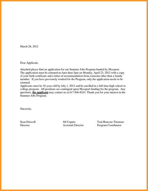 Employment Covering Letter Exles by Exle Cover Letter Application Bio Letter Format