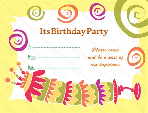 birthday invitation card template birthday card beautiful birthday card invitation template