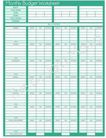 printable budget template blank budget worksheet printable spreadsheets
