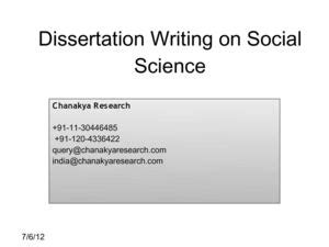 social science dissertation calam 233 o dissertation writing on social science
