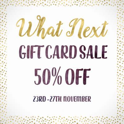 50 Off Gift Cards - news sales archives what next