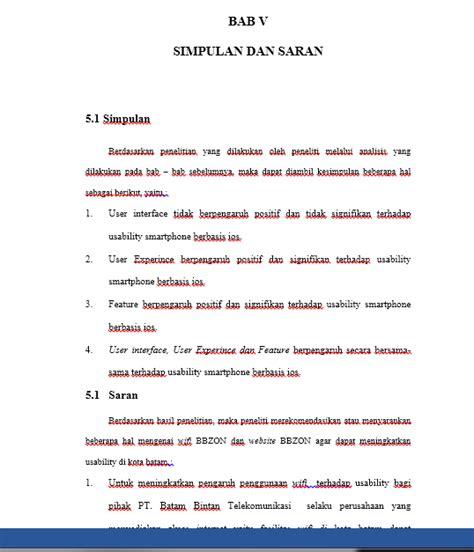 format penulisan skripsi teknik informatika contoh skripsi bab 5 kesimpulan dan saran teknik