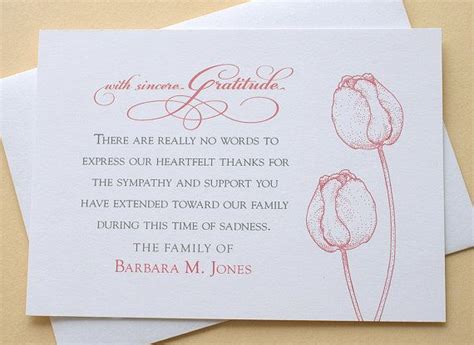 thank you card template for members of armed services best 25 funeral thank you notes ideas on