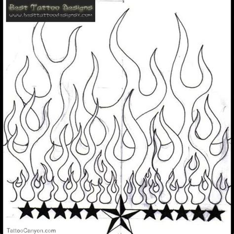 star with flames tattoo designs nautical and stencil flames
