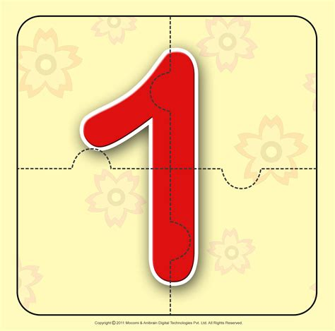 printable number jigsaw puzzles number one 1 number jigzaw puzzles for kids mocomi