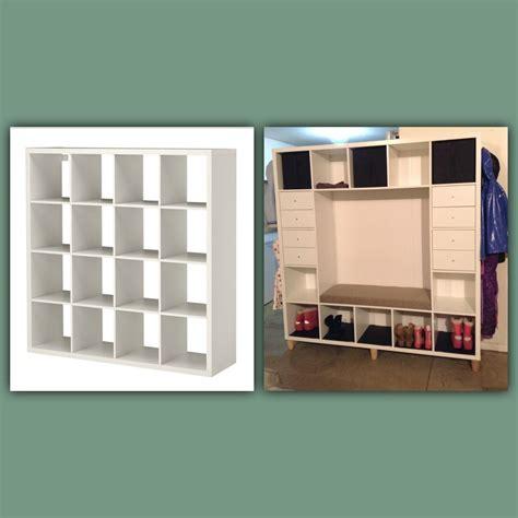 ankleidezimmer ikea kallax ikea hack kallax shelves to mudroom bench crafty things