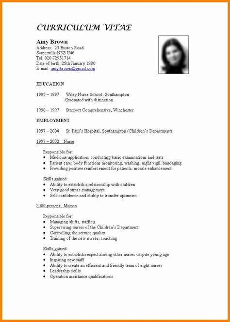 resume sles word format 11 curriculum vitae for mail clerked