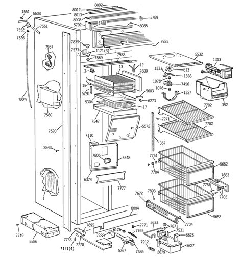 ge refrigerator maker parts diagram ge side by side refrigerator parts diagram wiring diagrams
