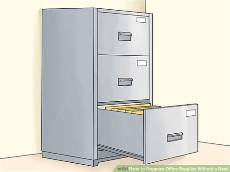 how to organize office desk how to organize office supplies without a desk 14 steps