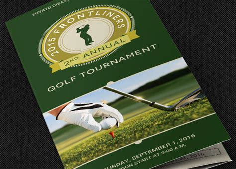 Charity Golf Tournament Brochure Template On Behance Free Golf Brochure Templates