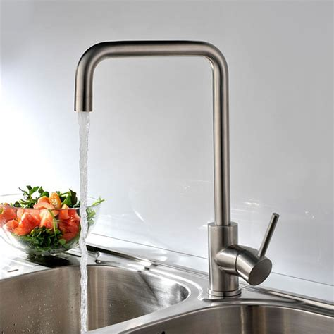 No Cold Water In Kitchen Sink Solid Stainless Steel Kitchen Bar Sink Faucet And Cold Water Brushed Nickel Single Handle