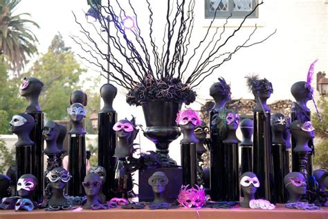 mask themed events a welcome table at the entrance displayed 300 designer