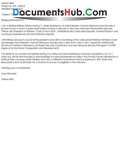 application letter for security application letter for security manager documentshub
