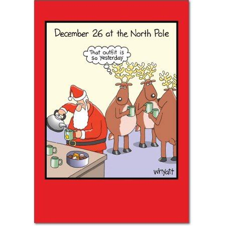 december yesterday tim whyatt cartoon box set   humor merry christmas cards