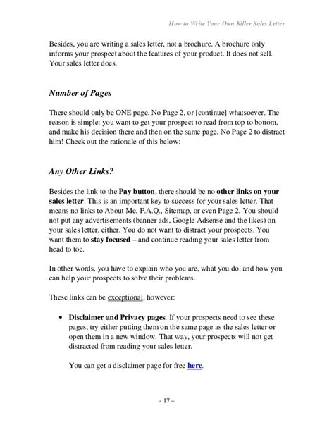 Sle Letter To Sell Products How To Write Your Own Seller Letter