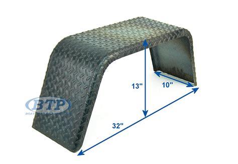 diamond plate boat trailer fenders steel diamond plate square trailer fender single axle 10 x
