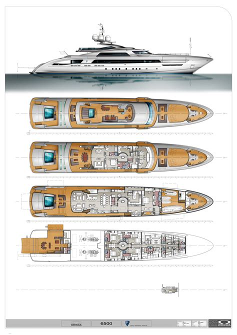 yacht layout plans heesen 65m fast displacement concept concept