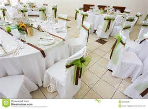 beautiful table settings green and brown an image of tables setting at a luxury wedding hall royalty free stock photography image 33649437