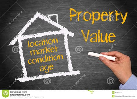 property value drawing stock photo image 40378723