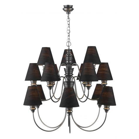 Black Chandelier L Shades Large Pewter Ceiling Chandelier For High Ceilings Black Silk Shades