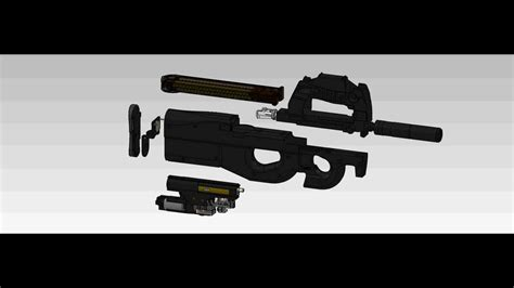 solidworks tutorial gun solidworks ksp p 90 tr airsoft gun youtube