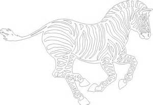 free zebra print m coloring pages