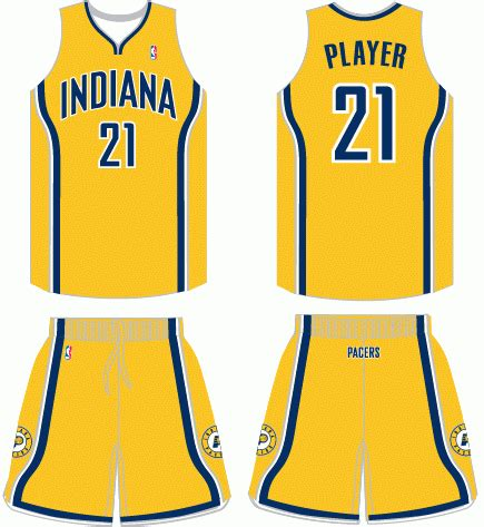jersey design indiana pacers indiana pacers alternate uniform gif