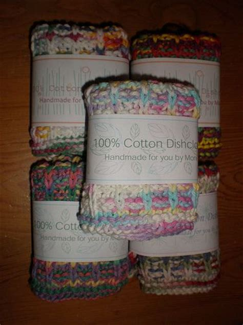 Knitting Labels Handmade - i these labels for knit dishcloths labels for