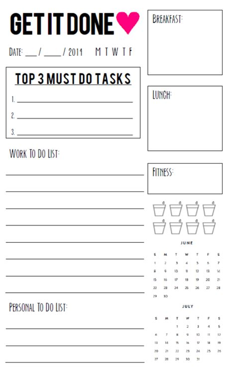 Free Printable Daily Agenda Half Size Journals | free printable daily agenda half size journals