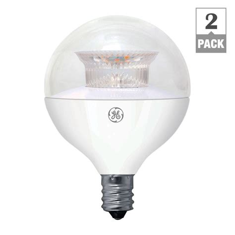 Ge 40w Equivalent Soft White G16 5 Globe Candelabra Base Led Light Bulb Pack